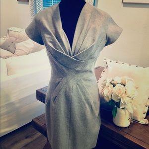 Robert Rodriguez Gray 60% wool dress Size 4